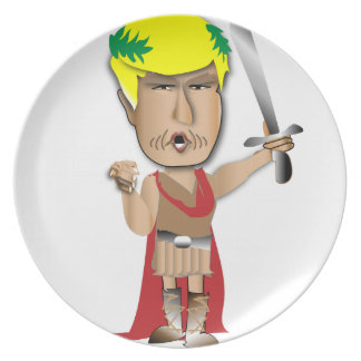 Trump is Ceasar Party Plates