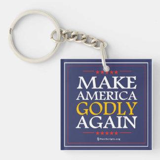 Trump - Key Chain: Maker America Godly Again Key Ring