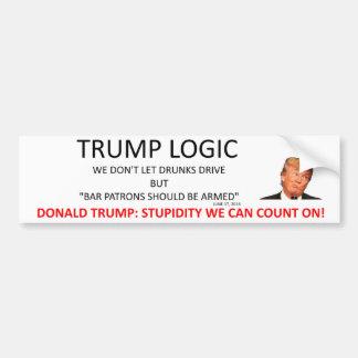 Trump Logic Bumper Sticker