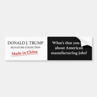 Trump made in china bumper sticker