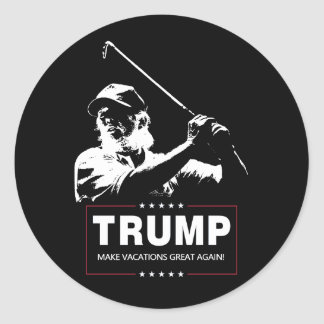 Trump - Make Vacations Great Again Classic Round Sticker