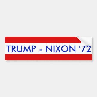 TRUMP - NIXON '72 BUMPER STICKER