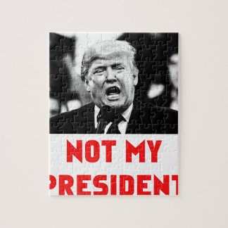 TRUMP NOT MY PRESIDENT JIGSAW PUZZLE