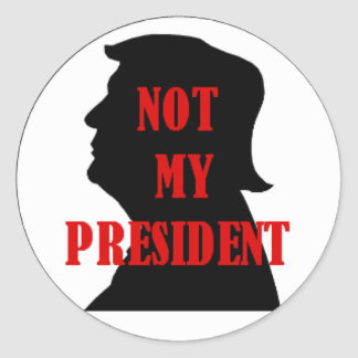Trump Not my President sticker