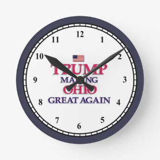 TRUMP OHIO GREAT AGAIN ROUND CLOCK
