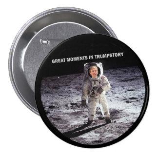 Trump on the moon 7.5 cm round badge