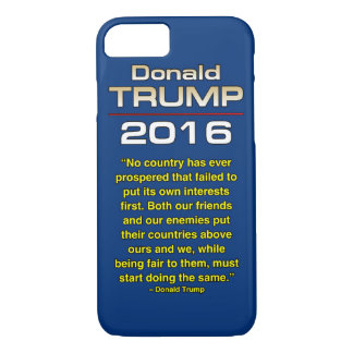TRUMP OUR INTERESTS iPhone 8/7 CASE