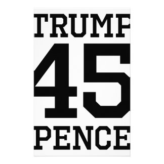 Trump Pence 45 Stationery