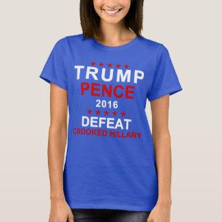 Trump Pence Defeat Crooked Hillary T-Shirt
