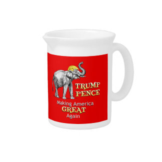 Trump Pence Elephant Making America Great Pitcher
