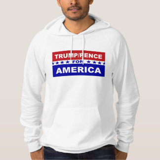 Trump Pence for America red white and blue Hoodie
