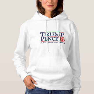 Trump Pence Hoodie 2016 Election Campaign Logo