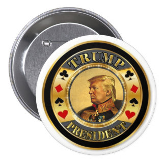 Trump President Casino Chip 7.5 Cm Round Badge