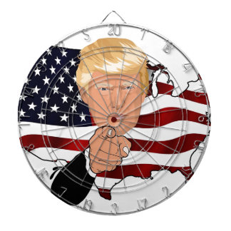 Trump President Uncle Sam Usa America Flag Dartboard