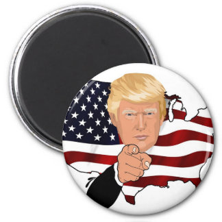Trump President Uncle Sam Usa America Flag Magnet