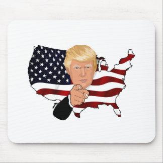 Trump President Uncle Sam Usa America Flag Mouse Pad