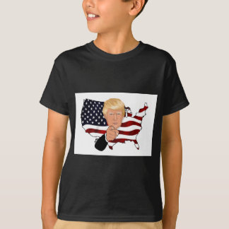 Trump President Uncle Sam Usa America Flag T-Shirt