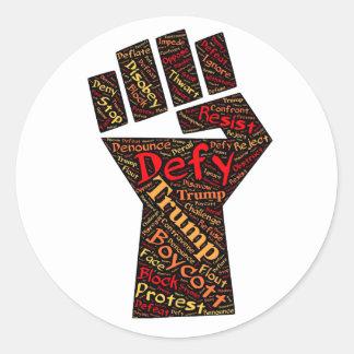 Trump Resistance Fist Sticker