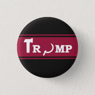 TRUMP RUSSIAN SOVIET 3 CM ROUND BADGE