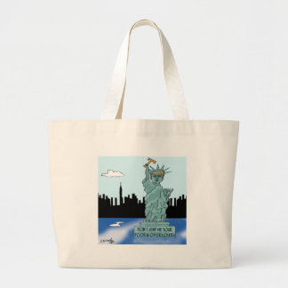 Trump's Statue of Liberty Large Tote Bag