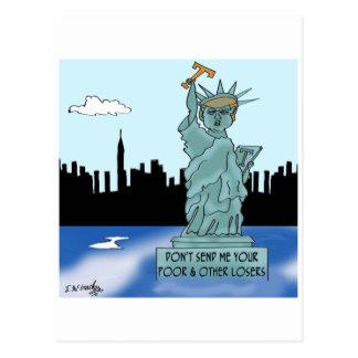 Trump's Statue of Liberty Postcard