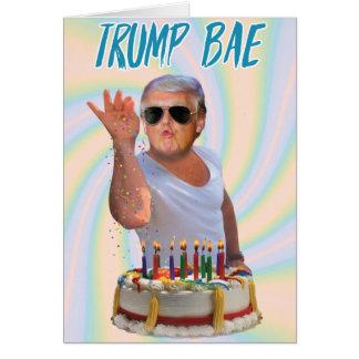 Trump Salt Bae Birthday Funny Paper Card