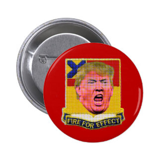 Trump shoots off his big mouth 6 cm round badge