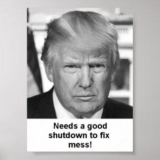 Trump shutdown poster