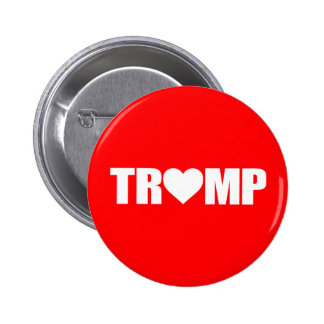 """'TRUMP' SPELLED WITH HEART"" 6 CM ROUND BADGE"