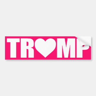 """'TRUMP' SPELLED WITH HEART"" BUMPER STICKER"