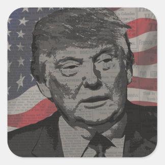 Trump Square Sticker