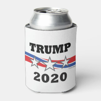 Trump Stars and Stripes 2020 Politcal Campaign USA Can Cooler