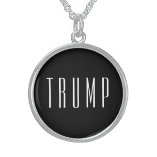 TRUMP STERLING SILVER ROUND NECKLACE