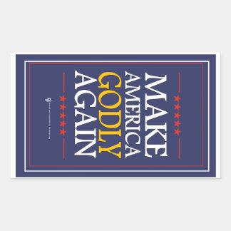 Trump - Sticker: Make America Godly Again Rectangular Sticker