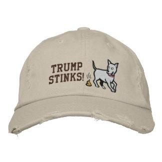 Trump Stinks! Custom Distressed Baseball Cap