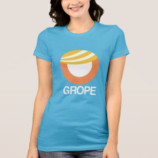 TRUMP SYMBOL - GROPE -- Anti-Trump Design - - whit T-Shirt