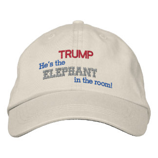 TRUMP the Elephant in the room! Embroidered Hat