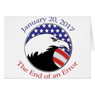 Trump: The End of an Error Card