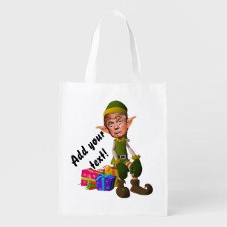 Trump the imp reusable grocery bag