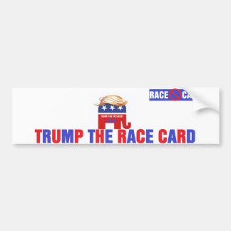 Trump The race card Bumper Sticker