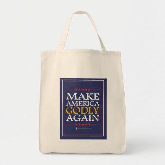 Trump - Tote Bag: Make America Godly Again