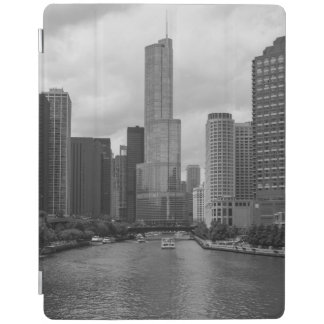 Trump Tower Chicago River Grayscale iPad Cover