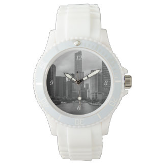 Trump Tower Chicago River Grayscale Wrist Watches