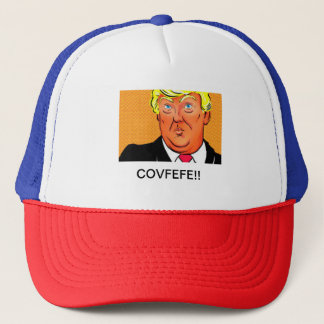 TRUMP TRUCKER HAT COVFEFE
