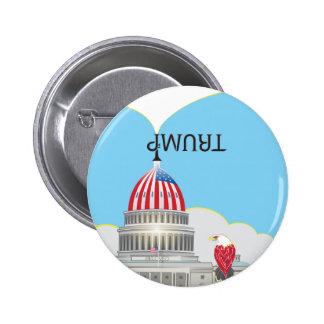 TRUMP Trumpet & Capitol 6 Cm Round Badge