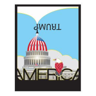 TRUMP Trumpet & US Capitol - day version Postcard