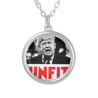 TRUMP UNFIT SILVER PLATED NECKLACE