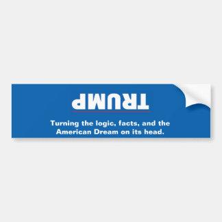 Trump Upside Down Bumper Sticker