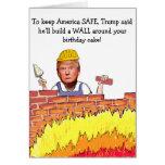 Trump Wall Birthday Card