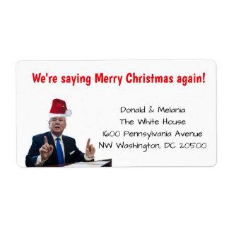 Trump: we're saying merry Christmas again